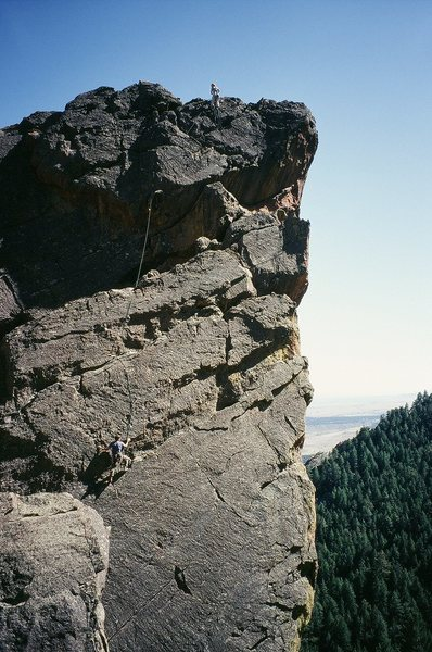 Rock Climbing Photo: Climbers Kat and Ryan on Lepracaun Promenade (10b)...