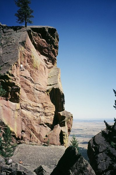 Rock Climbing Photo: Tony Bubb at the crux of 'Everpresent Lane' (5.10+...
