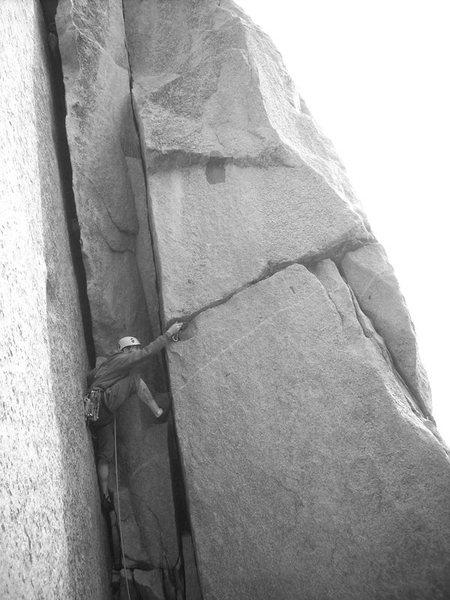 Rock Climbing Photo: placing a little pro...