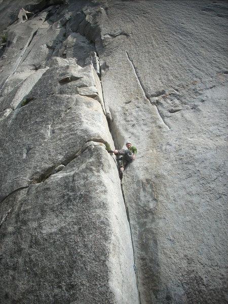 Rock Climbing Photo: Finding a good rest half way up...