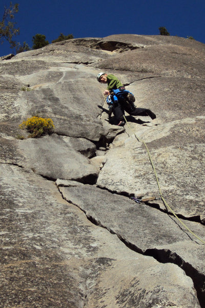 Rock Climbing Photo: me leading another fun pitch on this classic route...