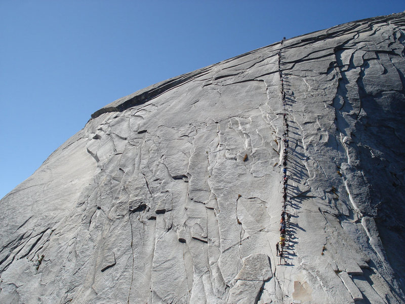 Rock Climbing Photo: busy day on the cables