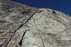 Rock Climbing Photo: The easy but super sweet 5.6 crack pitch... pitch ...