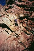 Rock Climbing Photo: Danny Inman passes the first crux (10c) on P1 of K...