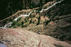 Rock Climbing Photo: Chad Volk finishes up on the final slabs of T2, we...