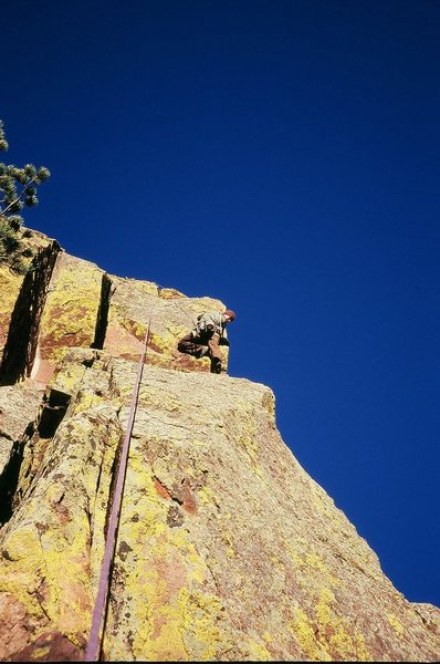Rock Climbing Photo: Jason Haas follows the FA of 'Think Quickly' (5.10...