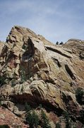 Rock Climbing Photo: The prominent buttress of Super Slab, and Vertigo ...