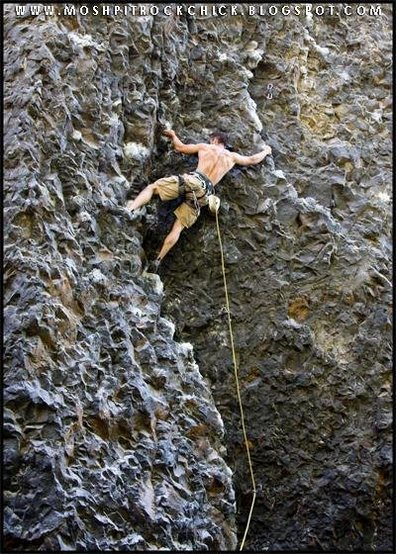 Me on The Roach 5.11a