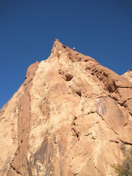 "Rock Climbing Photo: Paul and Pat on the second pitch of ""The Holl..."