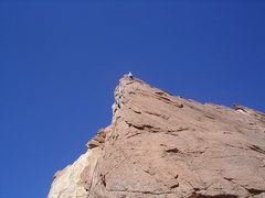 Rock Climbing Photo: High on pitch two . Photo Pat Moe