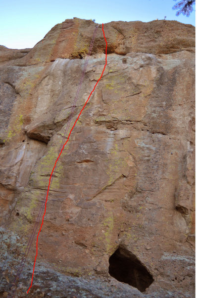 5.10 - Climb to the right of the beak-like projection.