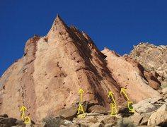 Rock Climbing Photo: A) The Hollow Men 5.9.B)Fall Not.5.7. C)1000'of Fu...