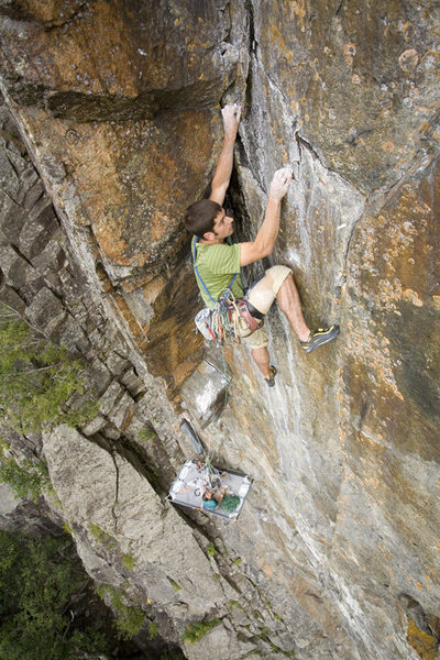 In the crux corner