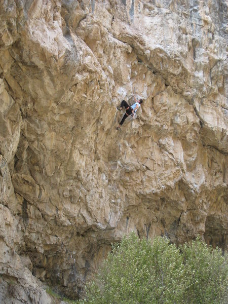 Rock Climbing Photo: Resting just below the PHM crux.