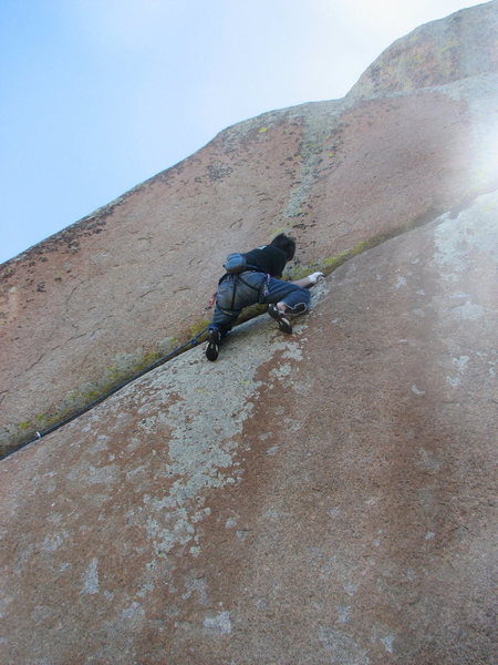 "Rock Climbing Photo: Justin Etl on ""Home on the Range""."