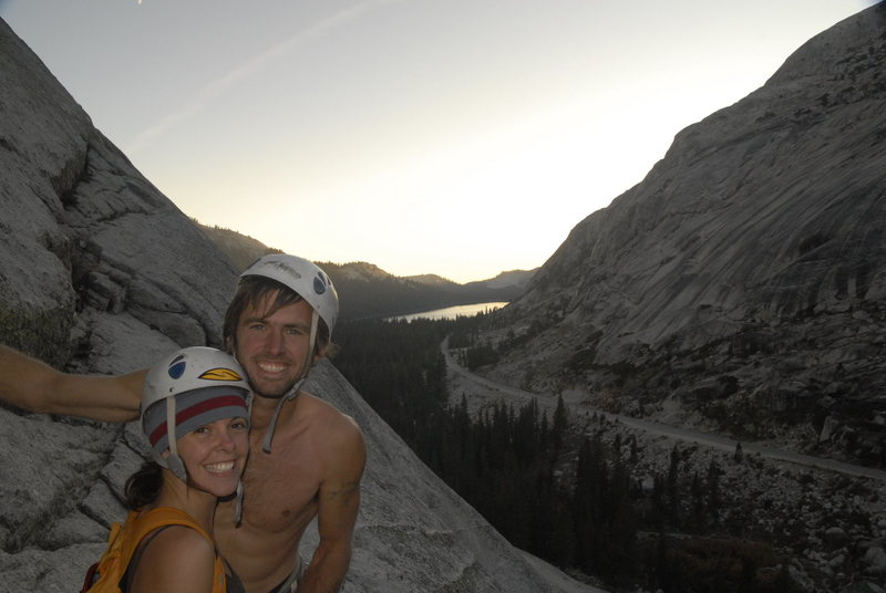 Rock Climbing Photo: Moira and I in Toulumne after a near death off rou...