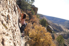 Rock Climbing Photo: Moira in northern New Mexico