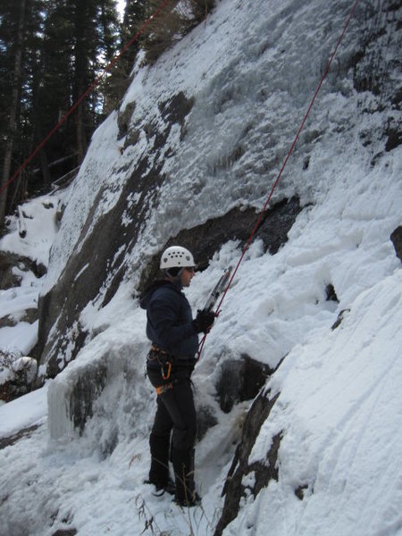 Rock Climbing Photo: Early season dry tooling