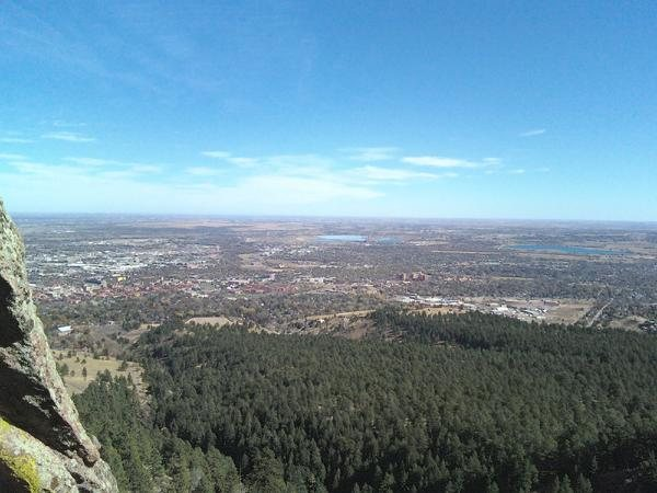 Rock Climbing Photo: view from 1300 ft.