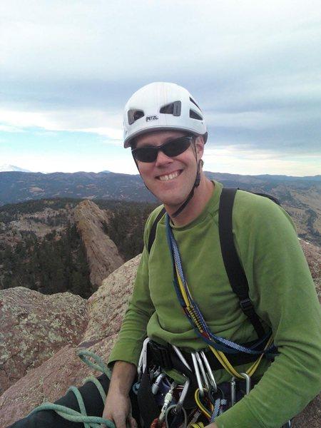 Rock Climbing Photo: TJ at the top