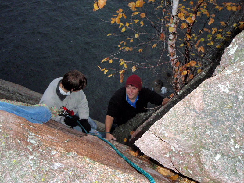 Rock Climbing Photo: At the top of Dance of the Sugar-Plump Faeries.