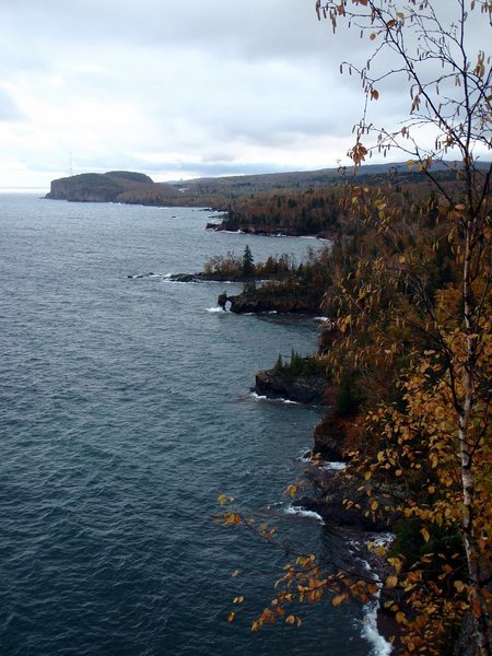 Looking out from Shovel Point to Palisade Head.
