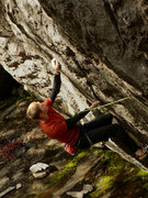 Rock Climbing Photo: Rocking the woman's yoga pants on Feeding Frenzy