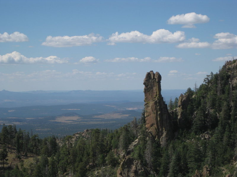 The South Face of Finger Rock seen from the viewpoint.