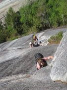Rock Climbing Photo: Free soloing Deidre....haha.
