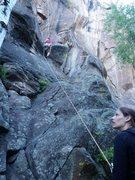 Rock Climbing Photo: a 5.8? at Snowbowl.