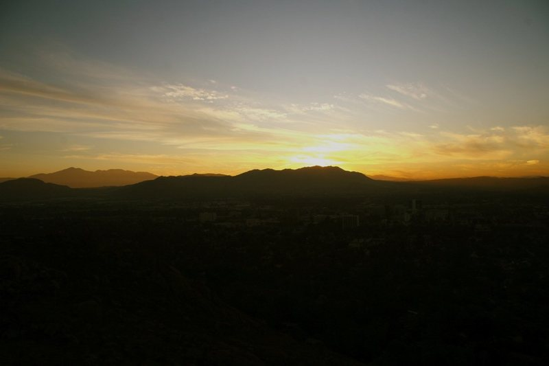Rock Climbing Photo: Sunrise from Mt Rubidoux