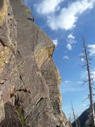 "Rock Climbing Photo: Past the hard climbing on ""Brand New Cadillac..."