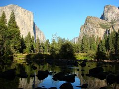 Rock Climbing Photo: From the western end of the Valley, daytime, Sept ...