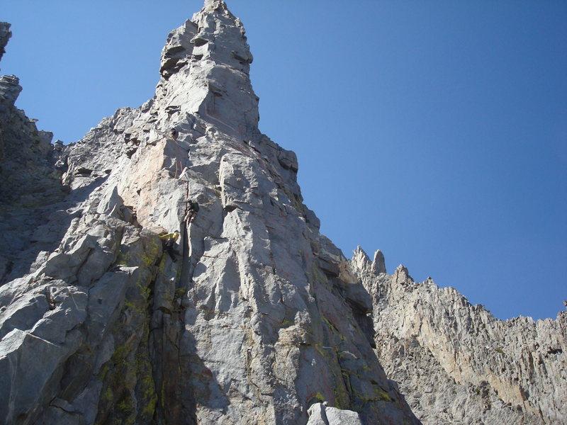 Rock Climbing Photo: Nearing the base of the stellar Ibirium Tower pitc...