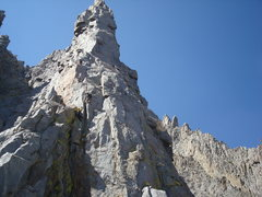 Rock Climbing Photo: Nearing the base of the stellar Ibirium Tower pitc...