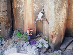 Rock Climbing Photo: Start of Aqualung