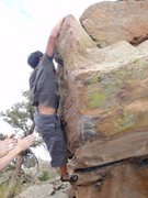 Rock Climbing Photo: Blasting for the top of the Arete!
