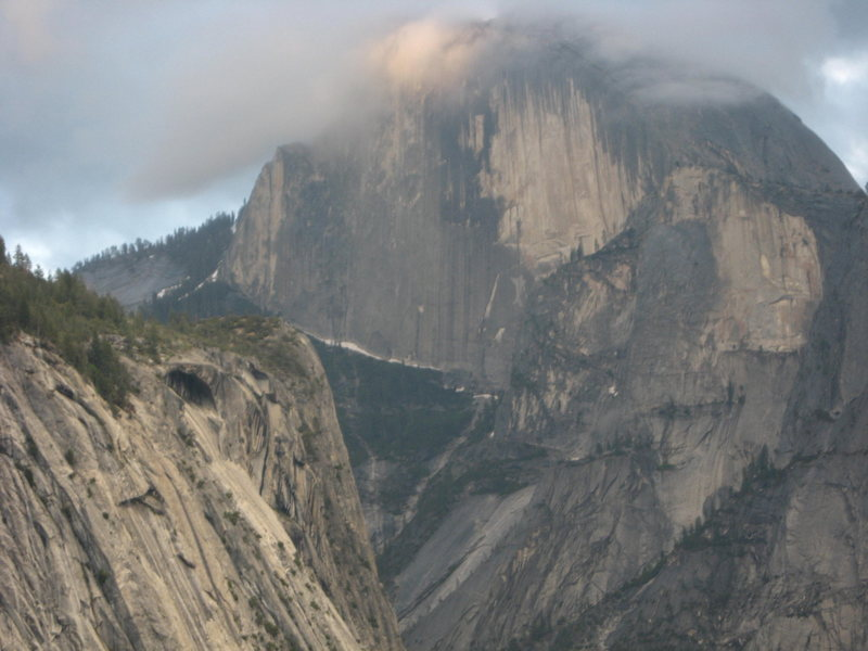 View of half dome from Munginella