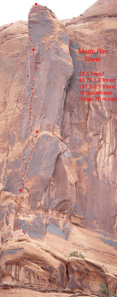 Rock Climbing Photo: Moab Rim Tower from the main trail