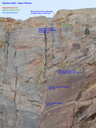 Rock Climbing Photo: A topo for the upper pitches of the Original Route...