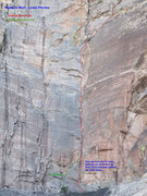 Rock Climbing Photo: A topo for the lower pitches of the Original Route...