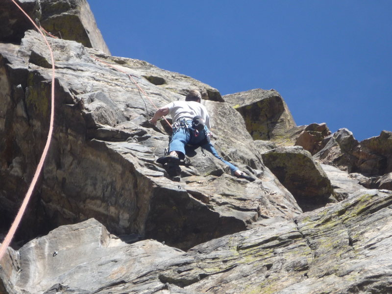 Roth near the crux on STBU.