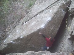 Rock Climbing Photo: Attempting Schulte's Witch Hunt V10-11.