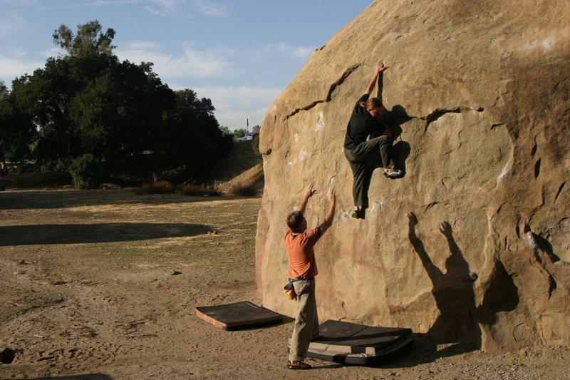 Rock Climbing Photo: Christian Sweetsheppard on 3 Pigs - Mike Owen spot...