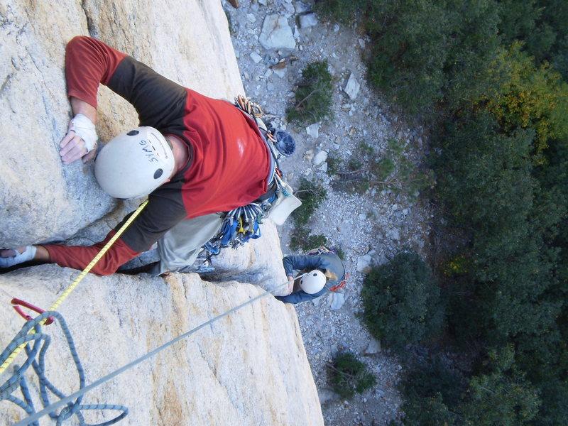 Rock Climbing Photo: Friends climbing Central Pillar of Frenzy