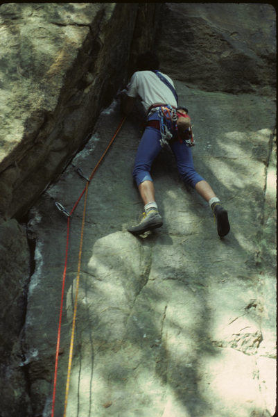 Rock Climbing Photo: Kingsbury Cruise setting up for the difficulties a...