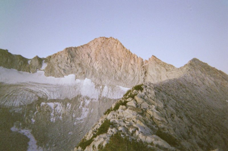 Rock Climbing Photo: North Ridge, Mt. Conness at day break