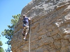Rock Climbing Photo: Jugging it up.