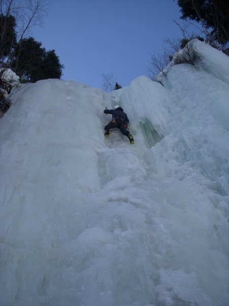 Rock Climbing Photo: Not super graceful in Vail