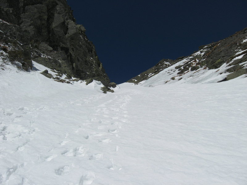 Looking up Central Gully